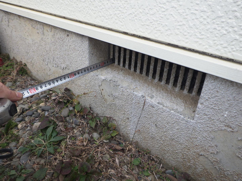 基礎コンクリートの厚みを計測