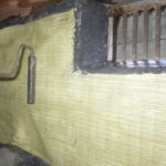 アラミド繊維シートの貼り付け